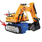 Eonkoo Full Functional Electric Excavator Toy,Battery Powered Construction Tractor With Lights & Sound toys