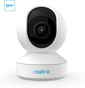 Indoor Security Camera, Reolink 5MP Super HD Plug-in WiFi Camera with Pan Tilt Zoom/Motion Alters, Ideal for Baby Monitor/Pet Camera/Home Security, Dual Band WiFi, Multiple Storage Options, E1 Zoom
