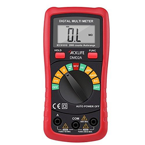 Tacklife DM02A Digital Multimeter Auto-Ranging ...