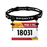 X31 Sports Triathlon Race Number Belt, with 6 Energy Gel Loops for Running, Marathons