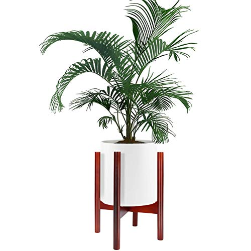 (Plant Stand, ZOUTOG Adjustable Mid Century 10 inch Planter Stand, Stylish & Versatile Modern Plant Stand for Indoor & Outdoor Use, Pot & Plant Not Included)