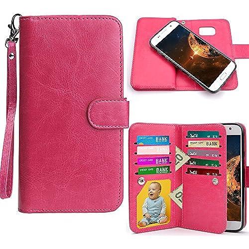 Galaxy S7 Edge Case, HESPLUS [Detachable Wallet] Galaxy S7 Edge Wallet Case with [9 CARD SLOT][ID HOLDER][WRIST Sales