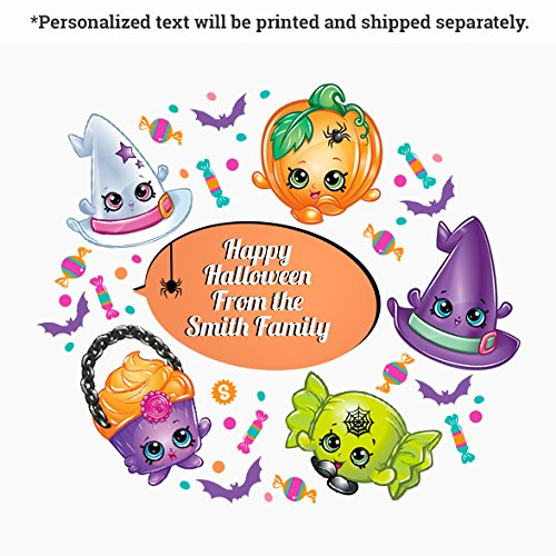 Oliver's Labels Shopkins Halloween Wall Decals Peel and Stick Removable Reusable Decoration -
