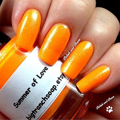 Amazon Com Neon Orange Nail Polish Fluorescent Summer Of Love