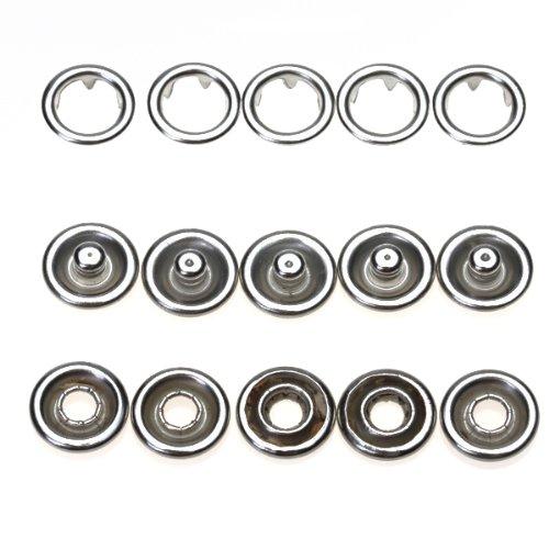 D DOLITY 裁縫ボタン 手芸 DIY小物 隠しボタン スナップボタン 留め金 約50個入りの商品画像