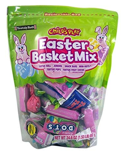 Tootsie Roll Childs Play Easter Basket Candy Mix Resealable Bag, 24.6 oz