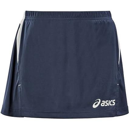 ASICS Windbraker Colin-Falda de Tenis Mujer Shorts compresión T252Z7 Anna Azul y Blanco Interior