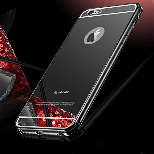 detailed look 19235 6b2f4 For iPhone 6 Case, Roybens Luxury Air Aluminum Metal Bumper Detachable +  Mirror Hard Back Case ,2 in 1 cover ,Ultra Thin Frame with Stylish Designs  ...