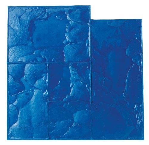 BonWay 12881 24Inch by 24Inch Ashlar Cut Stone Urethane Texture Mat Blue
