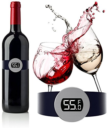 CNB's Wine Thermometer - Best wine gift accessory for any Wine Enthusiast to serve your bottles at the correct Wine Temperature ()