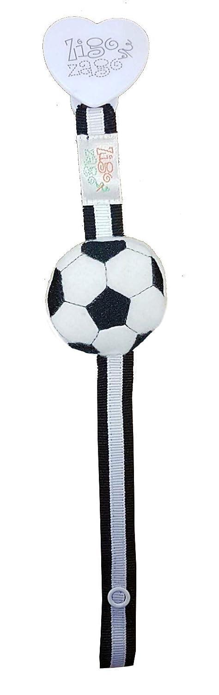Zigozago - Portaciuccio a righe bianco e nere con pallone da calcio 3D