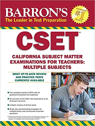 Amazon com: Barron's CSET: California Subject Matter Exams