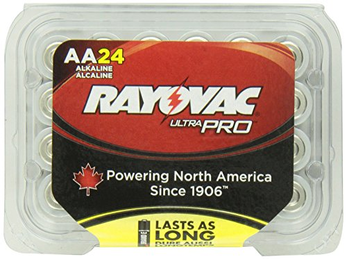 Rayovac Alkaline Batteries Recloseable ALAA 24
