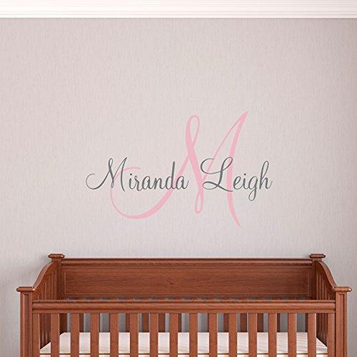 Custom Name Girls Boys Wall Decal Monogram - Personalized Na
