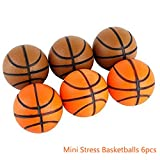 """Mini Stress Ball Toys 6pcs Foam Basketball 2.5"""" Relaxable Stress Relief Squeeze Balls"""