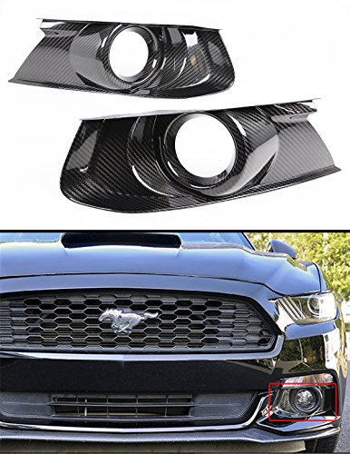 Cuztom Tuning for 2015-2017 Ford Mustang GT S550 Real Carbon Fiber Front Bumper Fog Light Bezel Cover