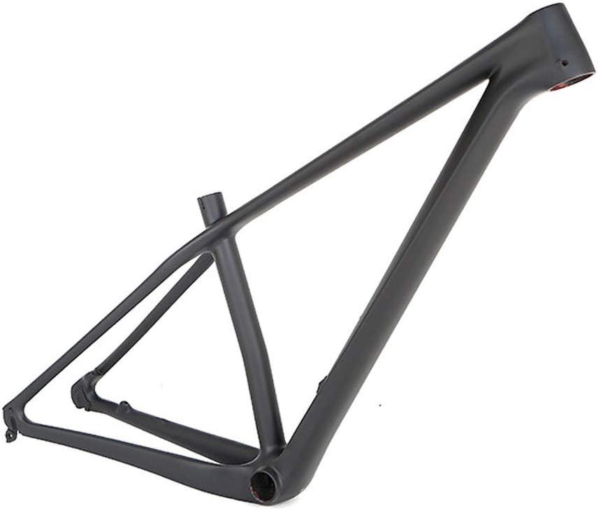 マウンテンバイクフレーム カーボンファイバー18K 29インチホイールセット用 自転車用アクセサリー 15.5 / 17/19インチ高 matt-黒 29*17inch