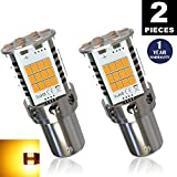 1156a led bulb amber - LUYED (2) Premium Amber LED Turn Signals, Super Bright, 1 pair, No Hyper Flash, Error Free, 1156 1141 1073 7506 Front/Rear Left/Right indicator lights