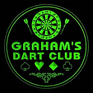 4x ccts1104-g GRAHAM'S Dart Club Game Room Bar Beer 3D Engraved Drink Coasters