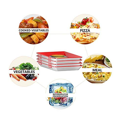 NEW 1//2//4Pcs Healthy Food Preservation Tray Storage Container Set Kitchen Tools