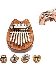 Mini Solid Wood Marimba Musical Thumb Piano, Portable Kalimba Finger Piano 8 Key, Great Gifts for Kids, Adults and Beginners