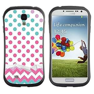Suave TPU GEL Carcasa Funda Silicona Blando Estuche Caso de protección (para) Samsung Galaxy S4 I9500 / CECELL Phone case / / Dot Chevron Teal Pink /