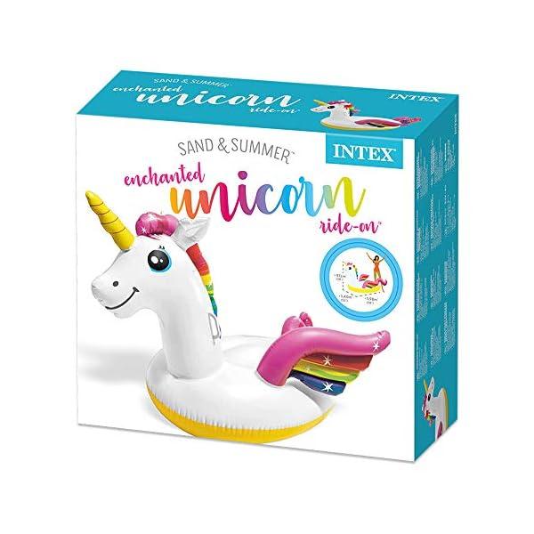 Intex 57561 - Cavalcabile Unicorno, Multicolore, 198 x 140 x 97 cm 5 spesavip