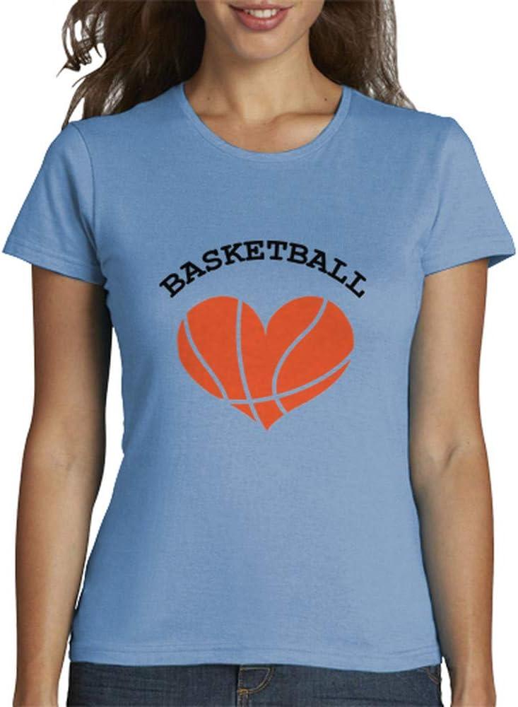 latostadora - Camiseta Camisa de Baloncesto para Mujer Azul Cielo S: Amazon.es: Ropa y accesorios