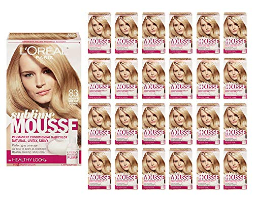 L'Oreal Paris Sublime Mousse by Healthy Look Hair Color 83 Golden Medium Blonde (108-Pack)