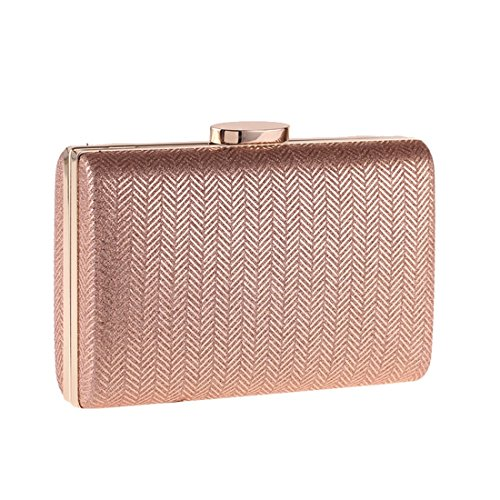 JESSIEKERVIN Shell Bag Small Synthetic Checkered Hard Pillow Square Clutch Handbag Leather Champagne Evening Bag wUT7wqr15