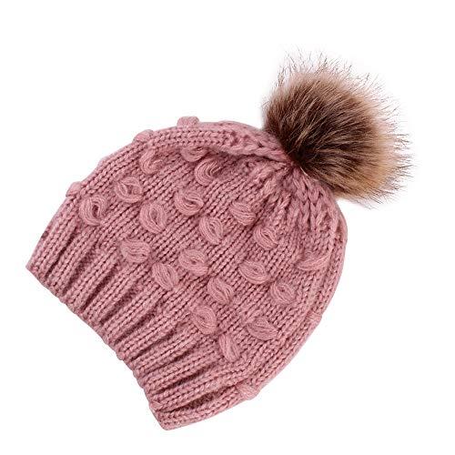 Cap Clearance, Cute Toddler Kids Beanie Cap Girl&Boy Infant Winter Warm Crochet Knit Hats (Pink) for $<!--$3.98-->