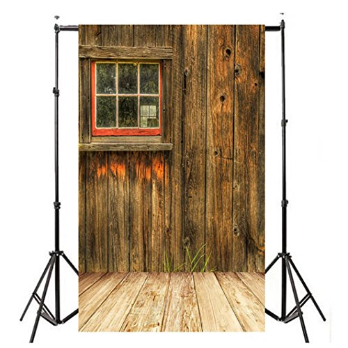 WensLTD Clearance! Vinyl Wood Wall Floor Photography Studio Prop Backdrop Background 3x5FT (C)