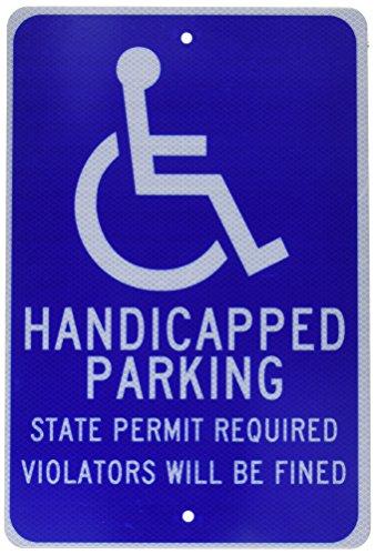 Parking Sign Stands - NMC TM90J Handicap Parking Sign, Legend