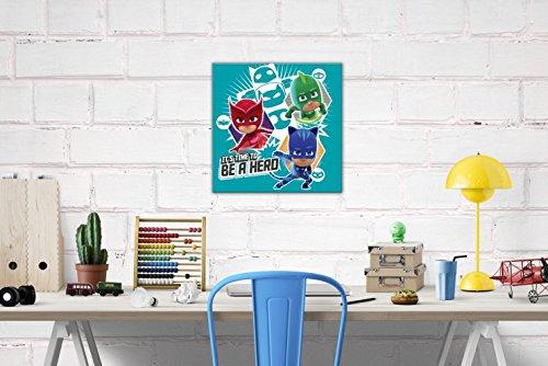 PJ Masks - Es Hora De Ser Un Héroe, Connor, Gattuno, Amaya, Buhíta, Greg, Gekko Cuadro, Lienzo Montado Sobre Bastidor (40 x 40cm): Amazon.es: Hogar