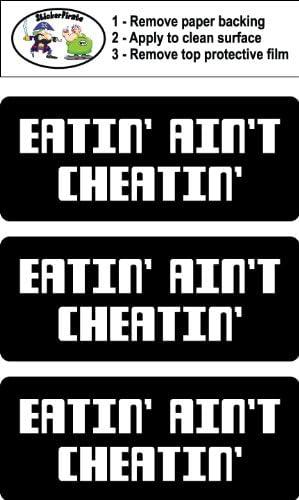 Eatin/' Ain/'t Cheatin/' Hard Hat 3 Biker Helmet Sticker BS 767