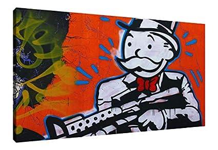 Amazon.com: Large Canvas HD Prints Pictures Home Decor Alec Monopoly ...