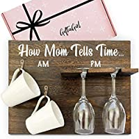GIFTAGIRL Funny Wine Gifts for Mom – Funny Mom Gifts Like Our How Mom Tells Time Coffee and Wine Gift, are What Makes Wine Gifts for Women Unique. Great as Unique Gifts for Mom who has Everything