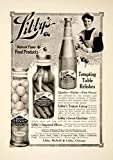1909 Ad Vintage Libby's Tomato Catsup Pickles Olives Relishes Condiment YSN2 - Original Print Ad