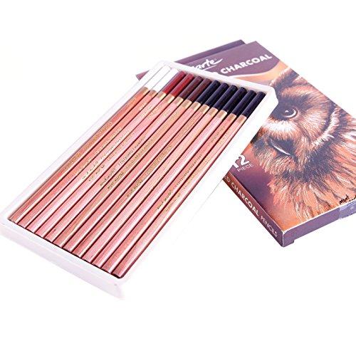 Mont Marte Coloured Charcoal Pencils 12pce