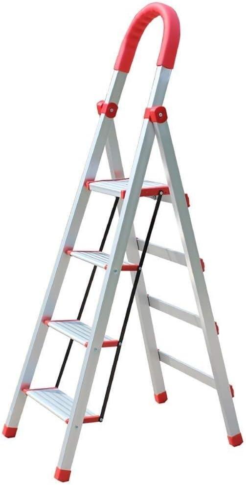 Yxsd Escalera Plegable de Aluminio del hogar Escalera 4 Escalera Plegable, Cocina de Mantenimiento de Office Escala Que Sube, Ancho Pedal: Amazon.es: Hogar