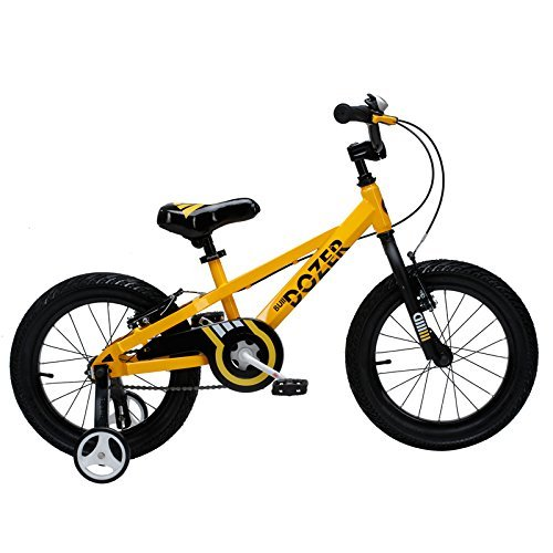 Royalbaby Bull Dozer Fat Tire kids bike 16 inch All-Terrain Boy's bike for energetic kids BURLY kid's bike with training wheels and kickstand 2017 newly-launched Yellow [並行輸入品] B07BFW5MCV