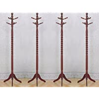 4 New Cherry Solid Wood Hall Tree Hat Coat Rack Hatrack