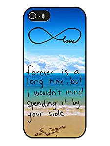 Hot Sale iPhone 5 5S Case ,Unique And Beautiful Designed iPhone 5 5S Case With Pop infinity anchor with love and sandy beach design S Black Phone Case