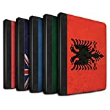 STUFF4 PU Leather Book/Cover Case for Apple iPad 9.7 (2017) tablets / Pack 53pcs Design / Flags Collection