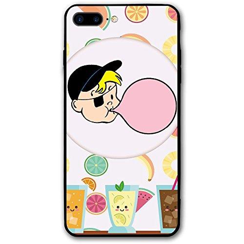 IPhone 8 Plus Case, IPhone 7 Plus Case,Bubble Gum Glitter Liquid Bling Protective Girls Case Floating Bling Sparkle Luxury Women Case TPU+PC For IPhone 7 Plus/8 - Fish Bubble Gum