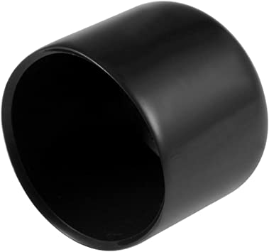 uxcell 15pcs Rubber End Caps 21mm ID Vinyl Round End Cap Cover Screw Thread Protectors Black