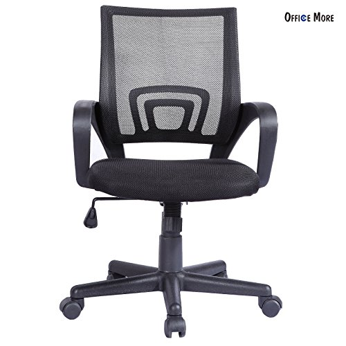 Swivel computer desk task black ergonomic midback mesh office chair - Day Sales Brisbane Boxing