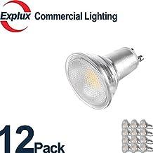 12-Pack Premium Full-Glass Dimmable GU10 LED Bulbs, Weatherproof 5.5W (50 Watts Equivalent) LED GU10 Light Bulbs, Flood Light, 3000K Soft Warm White (Pack of 12)