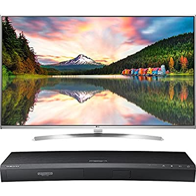 LG 60-Inch Super Ultra HD 4K Smart LED TV with webOS 3.0 (60UH8500) with Samsung 3D Wi-Fi 4K Ultra HD Blu-ray Disc Player