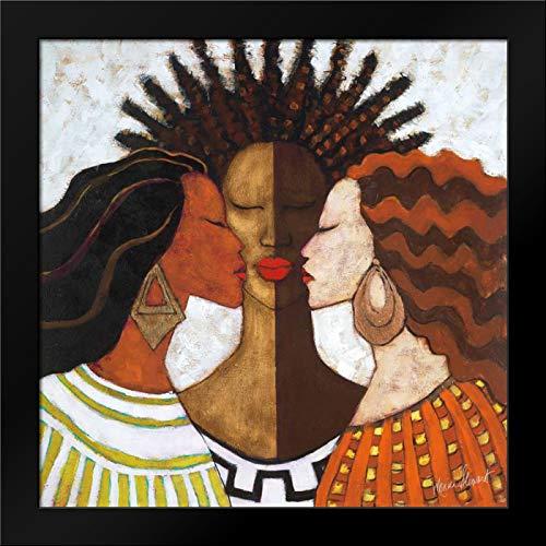 Stewart, Monica 20x20 Black Modern Framed Art Print Titled Every Woman